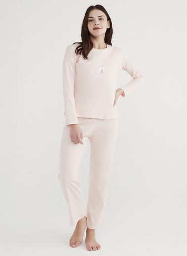 Penti Kadın  Pijama Takımı  Ana Kumaş Cotton 100,00 Ana Kumaş Cotton 100,00   Pembe